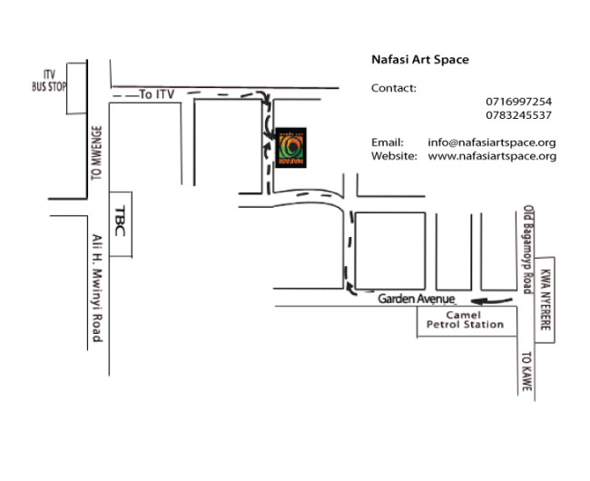 Map to Nafasi Art Space